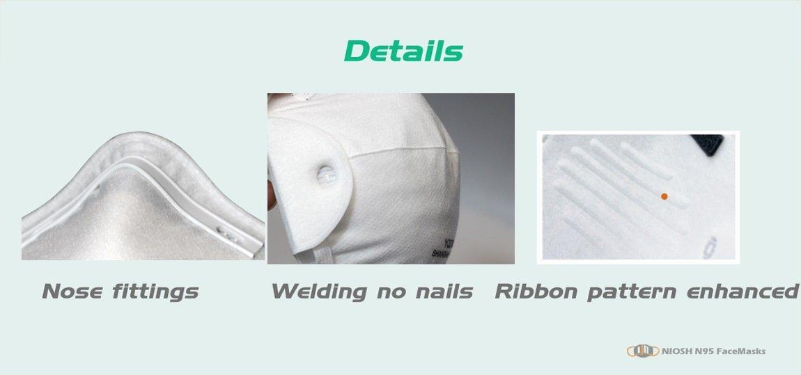 yichitai yqd8008 instock niosh n95 n95facemask protective details show