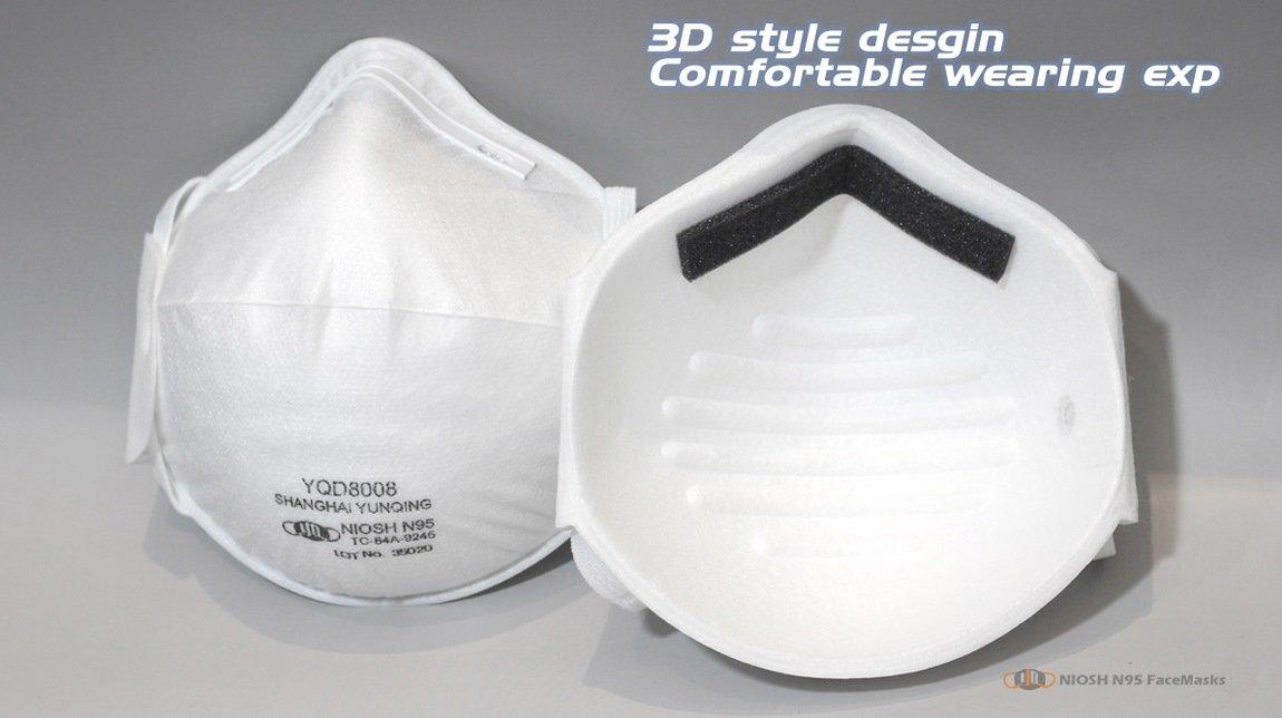 yichitai yqd8008 n95facemask n95 tc 84a 9245 respirator inner view