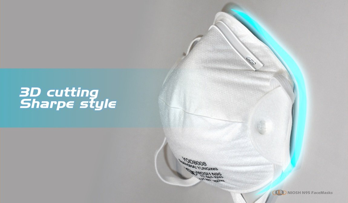 yichitai yqd8008 particulate headmounted yunqing respirator n95 product show