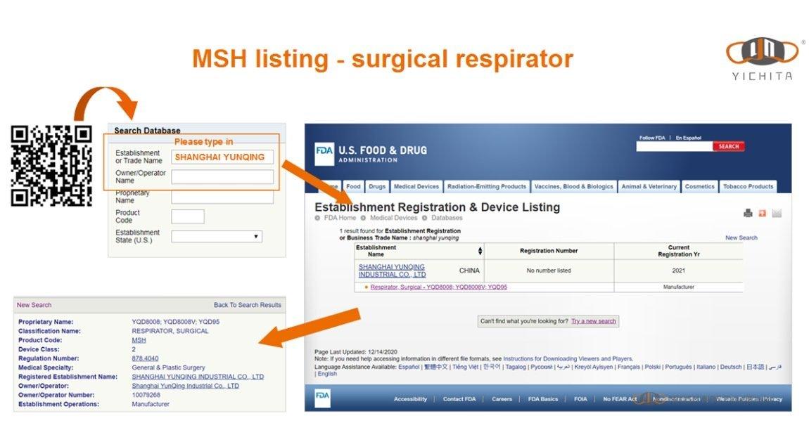 yichitai yqd8008v headmounted tc 84a 9246 facemask valved respirator certification