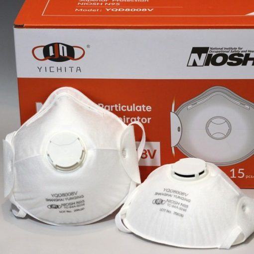 yichitai yqd8008v n95facemask particulate headmounted original respirator box view