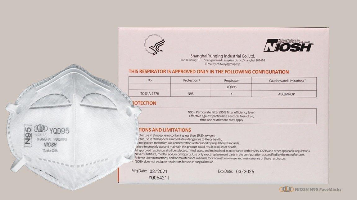 yichitai yqd95 facemask yunqing particulate niosh head mounted box view
