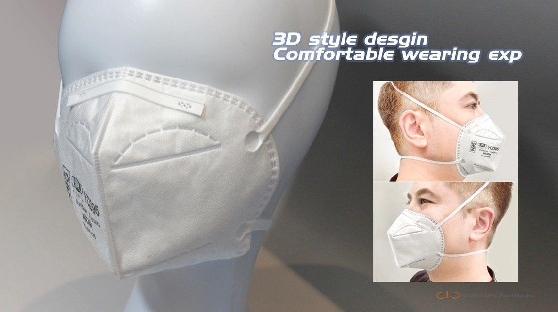 yichitai yqd95 folding n95 niosh genuine instock model show