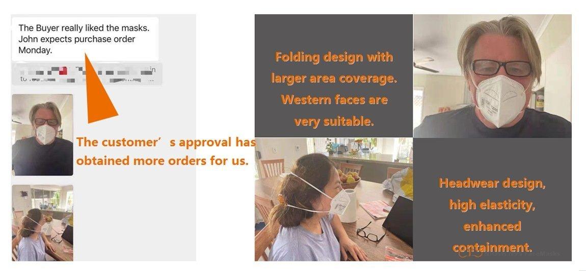 yichitai yqd95 respirator n95facemask folding instock head mounted usage