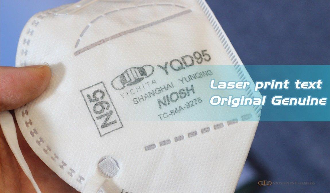 yichitai yqd95 shop n95 retails head mounted n95facemask left view