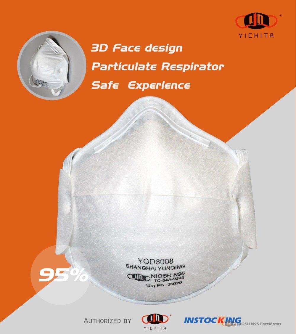 yichitai yqd8008 original n95facemask respirator retails shop genuine front view